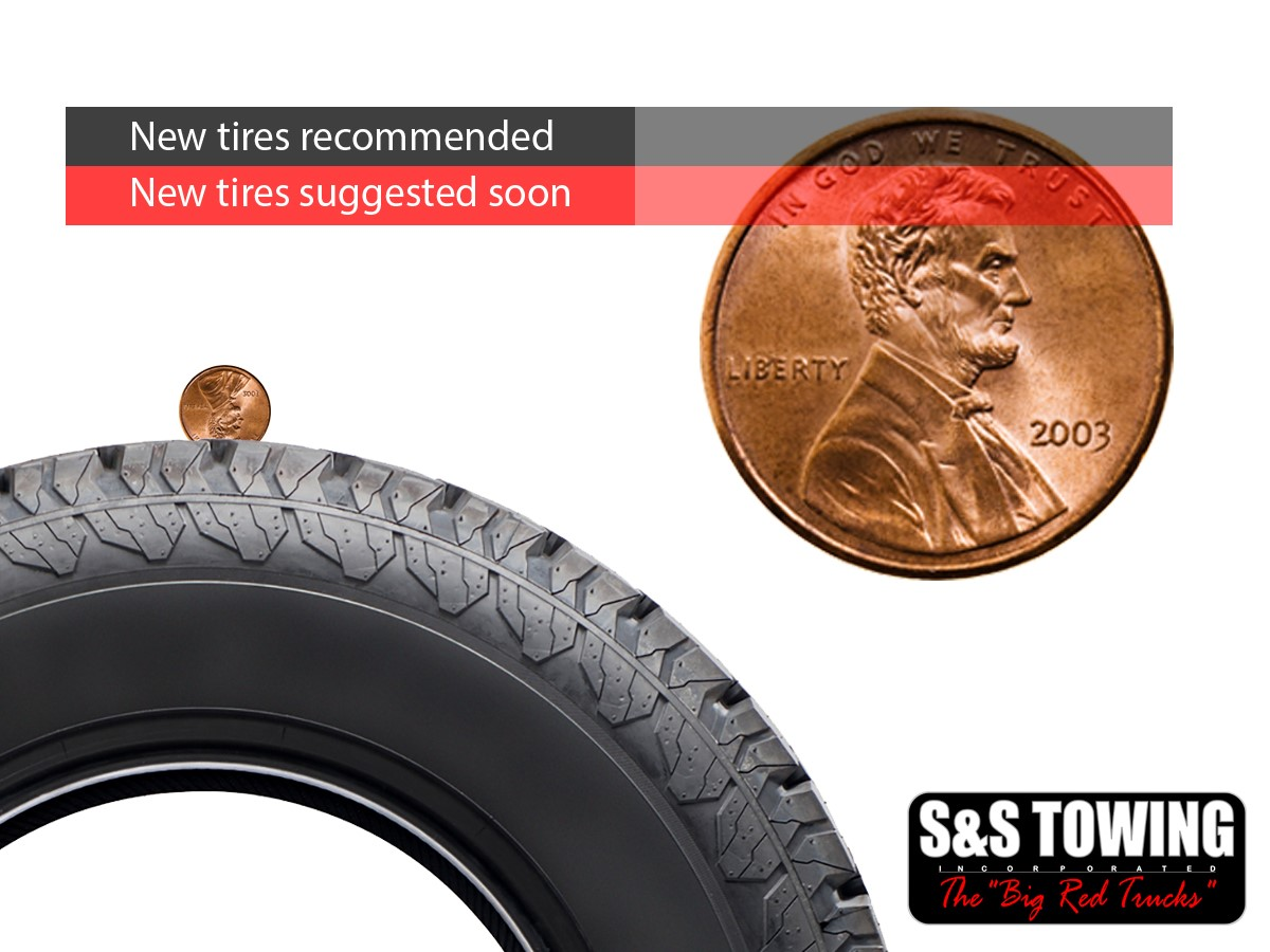How To Check Tread Depth >> S&S Towing Tire Safety Penny Test